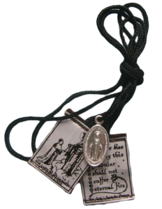 Brown Scapular with Holy Medal